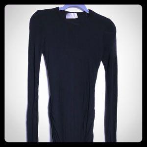 A.L.C. Long Sleeved Black Wool-blend Dress small